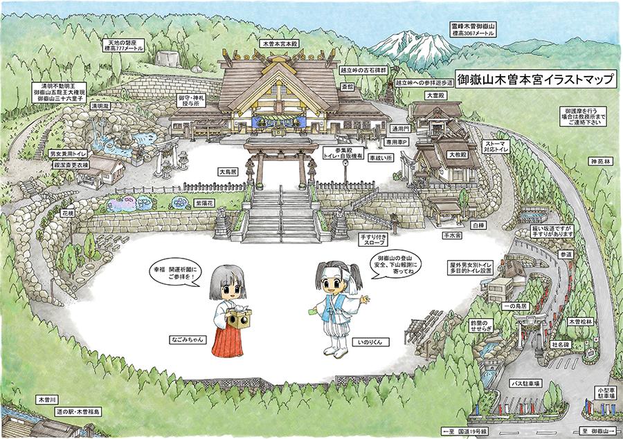 木曽本宮の境内マップ